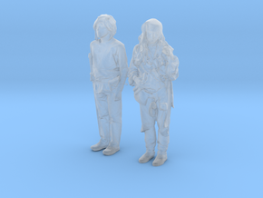 Printle V Couple 558 - 1/87 - wob in Smooth Fine Detail Plastic