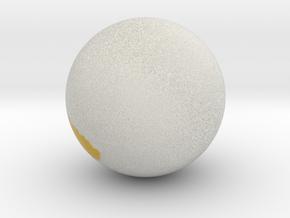 Sphere.obj in Full Color Sandstone