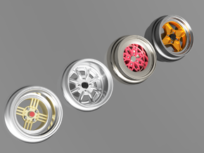 1/64 scale Wheel Multi Pack A - JDM  in Smoothest Fine Detail Plastic