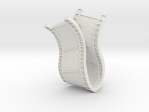 Film Necklace in White Natural Versatile Plastic