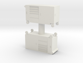 Toolbox Trolley (x2) 1/76 in White Natural Versatile Plastic
