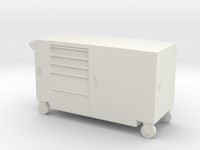 Toolbox Trolley 1/35 in White Natural Versatile Plastic