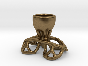 Arc Candle Holder (single) in Natural Bronze