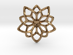 Flower Loops Single in Natural Brass