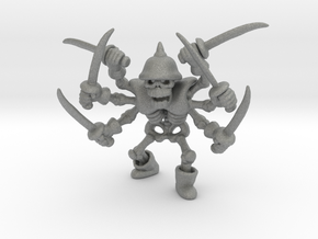Skeleton Swordsman 42mm miniature fantasy game DnD in Gray PA12