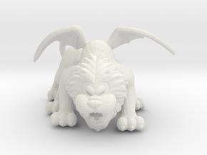 Manticore 53mm miniature fantasy games DnD rpg in White Natural Versatile Plastic