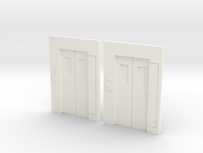 B-02 Lift Entrances - Type 2 (Pair) in White Strong & Flexible Polished