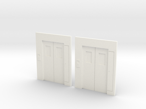 B-03 Lift Entrances - Type 3 (Pair) in White Processed Versatile Plastic