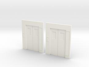 B-03 Lift Entrances - Type 3 (Pair) in White Processed Versatile Plastic