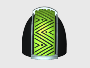 10x Kente Swathe 01 - G:5a Shoulder Pads in Smooth Fine Detail Plastic