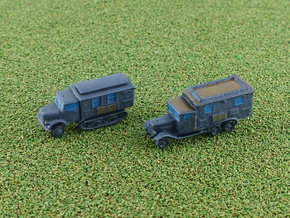 German Radiocars Henschel & KHD 1/285  in Smooth Fine Detail Plastic