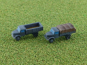 German KHD A3000 Trucks 1/285 in Smooth Fine Detail Plastic