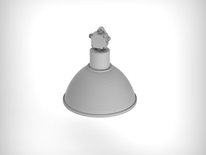 Industrial Lamp 01. 1:35 Scale (x4 Units) in Smooth Fine Detail Plastic