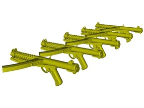 1/12 scale Sterling L-2A3 submachineguns A x 5 in Smooth Fine Detail Plastic