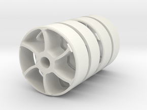 "7/8"" Scale Dinorwic Curly Spoke Wheel Centres in White Natural Versatile Plastic"
