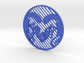 """CSU Ram (Inverted) [3""""] in Blue Processed Versatile Plastic"""