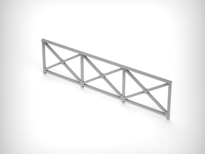 Railing 01. 1:35 Scale x6 Units in White Natural Versatile Plastic