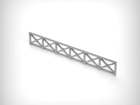 Railing 01. 1:87 Scale (HO) x8 Units in Smooth Fine Detail Plastic