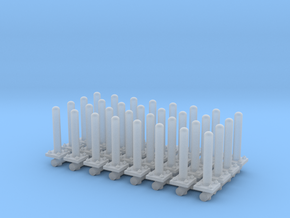 Safety Poles (x32) 1/100 in Smooth Fine Detail Plastic