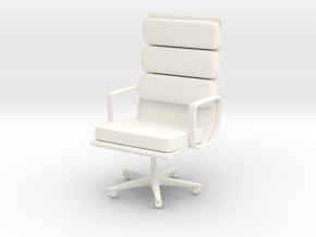 1/12 desk office chair in White Processed Versatile Plastic