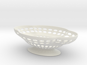 Soap Dish in White Natural Versatile Plastic