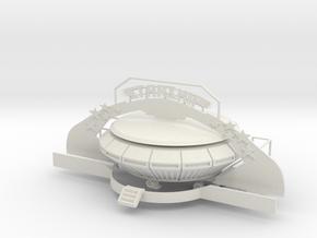 Starship - 1:87 (H0 scale) in White Natural Versatile Plastic
