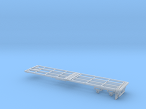 1/87th 40' Oilfield Flatbed Float trailer in Smooth Fine Detail Plastic