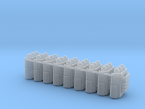 Custom Missile Pods (Large) in Smooth Fine Detail Plastic