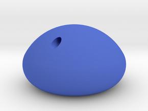 Raindrop Fiddle Charm in Blue Processed Versatile Plastic