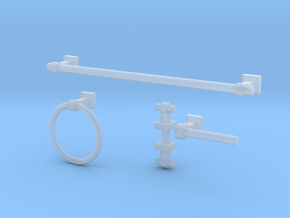 Luxe Bathroom Hardware  in Smooth Fine Detail Plastic
