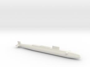 HMS Resolution SSBN, Full Hull, 1/1250 in White Natural Versatile Plastic