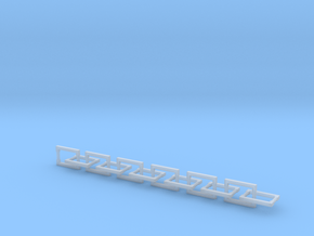 Handles Plain: Large (24pc) in Smooth Fine Detail Plastic