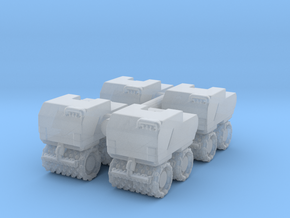 Trench Compactor (x4) 1/160 in Smooth Fine Detail Plastic