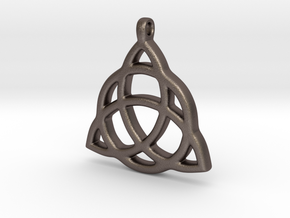 Triquetra in Polished Bronzed-Silver Steel