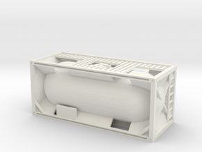 20ft Tank Container 1/76 in White Natural Versatile Plastic