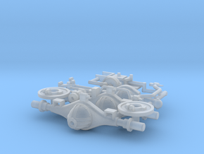 Tamiya 1:35 CCKW banjo corporation axles in Smoothest Fine Detail Plastic