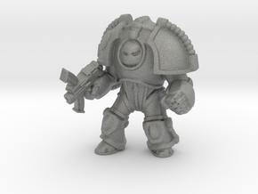 Saturn Terminator w Bolter miniature games model in Gray PA12