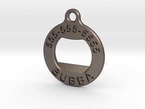 BubbaTag, Original in Polished Bronzed Silver Steel