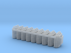 Custom Missile Pods (Small) 3mm Hole For Magnets in Smoothest Fine Detail Plastic