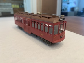 HO Pacific Electric Submarine Suburban/City Car in Smooth Fine Detail Plastic