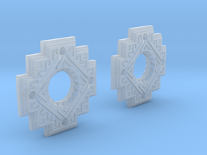 Inca Cross Earrings in Smoothest Fine Detail Plastic: Small