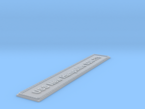 Nameplate USS New Hampshire SSN-778 (10 cm) in Smoothest Fine Detail Plastic