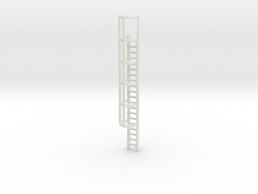 20ft Cage Ladder 1/76 in White Natural Versatile Plastic