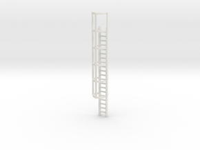20ft Cage Ladder 1/72 in White Natural Versatile Plastic