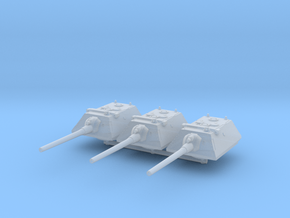 E-100 Krupp Turret (x3) 1/285 in Smooth Fine Detail Plastic