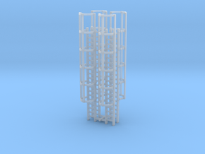 20ft Cage Ladder (x4) 1/160 in Smooth Fine Detail Plastic