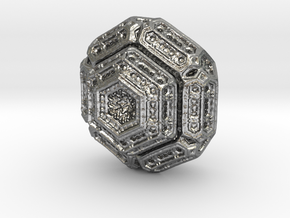 Hexagonal mandelbulb in Natural Silver