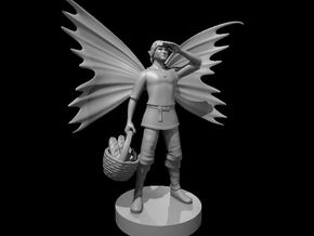 Fairy Folk Male Commoner in Smooth Fine Detail Plastic
