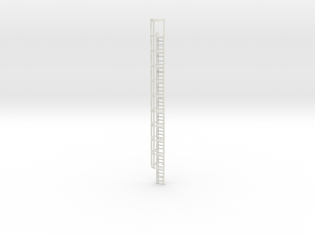 40ft Cage Ladder 1/76 in White Natural Versatile Plastic