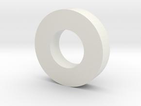 RadioGlobe - Spacer Ring x2 in White Natural Versatile Plastic